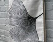BABY BLANKET Marimekko organic gingko black white mod bedding (2 available)