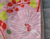 SALE - BABY blanket Marimekko - organic mod pink flowers gardens bedding (LAST 1)