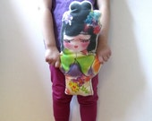 doll pillow girls toy handmade for eco kids decor / Jazzy Jasmine