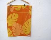 SALE - Marimekko Baby Blanket with Organic Flannel - Eco Friendly Gold Orange Modern Bedding (Ready to Ship - only 1)