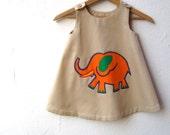 The Zoe Dress - ORGANIC girls summer fashion handmade with retro vintage animal appliques - made to measure (Last 1)