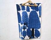 BABY QUILT Marimekko organic baby bedding / modern sapphire blue woodland pine trees (LAST 1 - Ready to Ship)