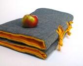 Organic NAP MAT - PreSchool Toddler Napmat Pad - Eco Friendly Unisex Modern Orange Stripes