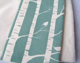 Organic BABY Blanket - Woodland Birch Trees- Baby Bedding - Eco Friendly