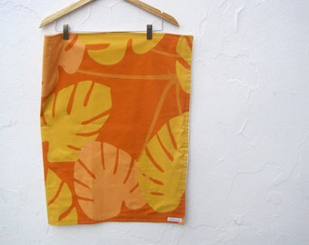 SALE - Marimekko Baby Blanket with Organic Flannel - Eco Friendly Gold Orange Modern Bedding (Ready to Ship - only 1)