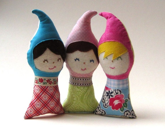 gnome dolls baby toys eco friendly / personalized handmade multicultural