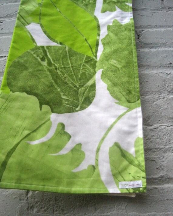 organic baby blanket - Marimekko XL eco friendly mod green leaf bedding (LAST 1)