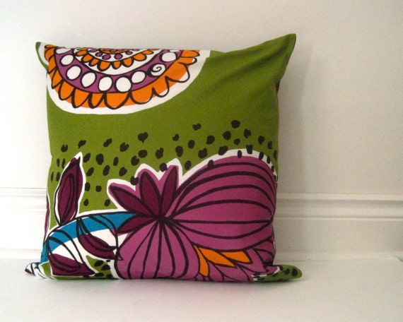 Marimekko Throw Pillow Covers : Marimekko throw pillow cover decorative mod purple by SewnNatural