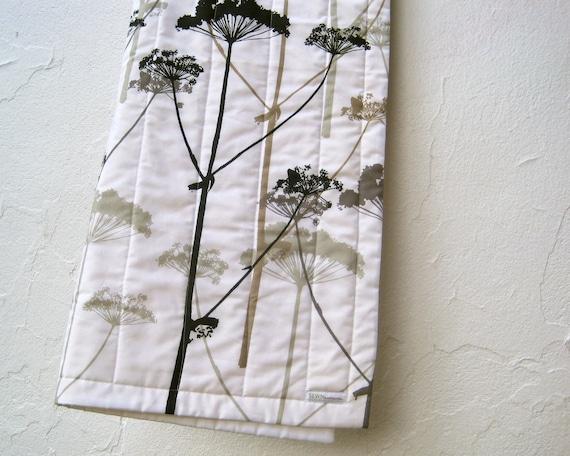 BABY QUILT Marimekko organic baby bedding quilted blanket / modern black white wild prairies flowers (LAST 1 - Ready to Ship)