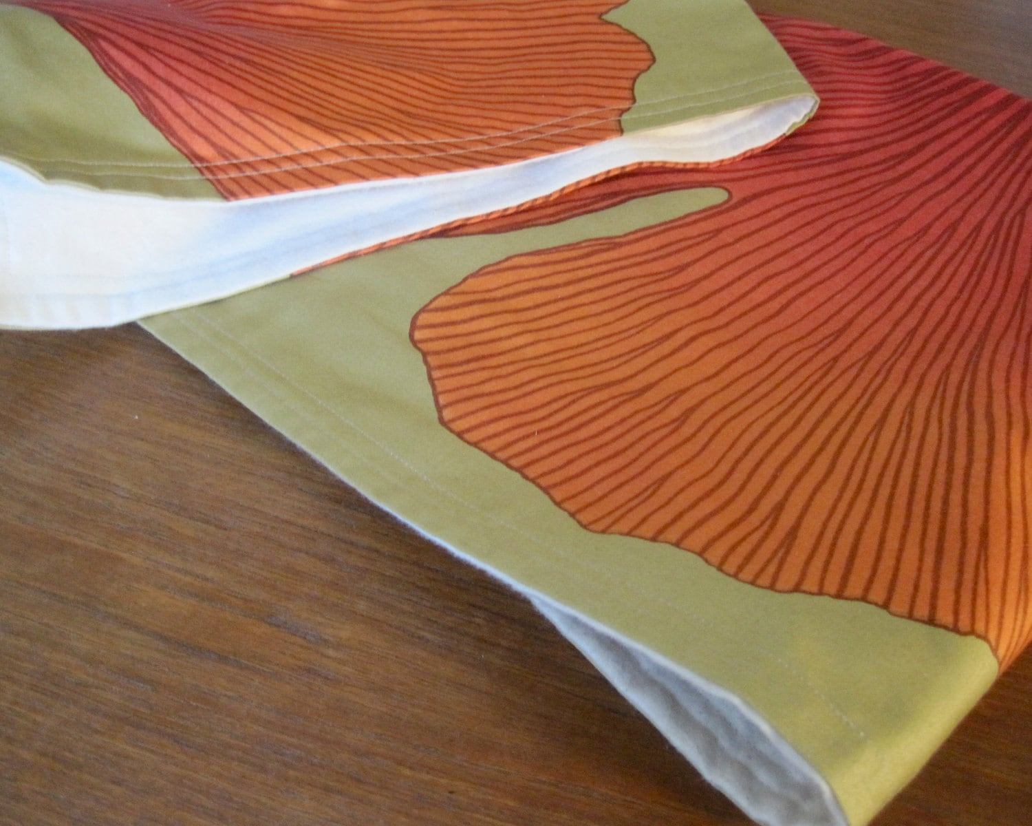 modern baby blanket xl marimekko organic gingko orange gold. Black Bedroom Furniture Sets. Home Design Ideas