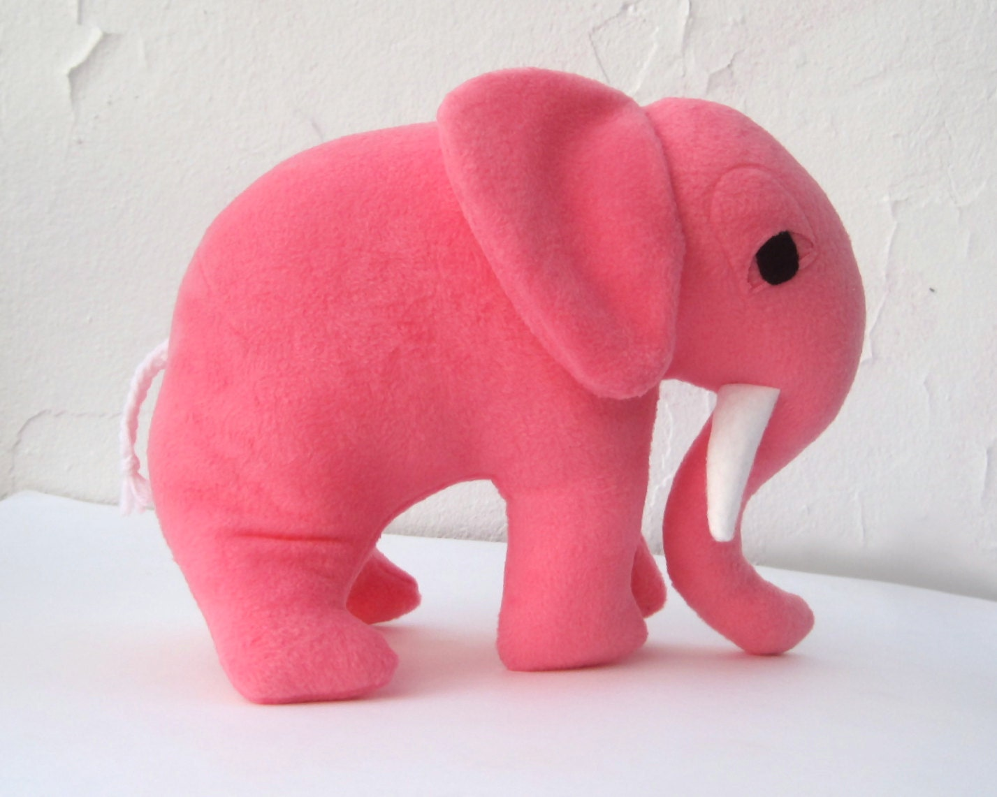giant elephant toy stuffed animal in sweet pink petaluma the. Black Bedroom Furniture Sets. Home Design Ideas