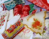 Vintage FLOWERS and Frills HANDKERCHIEF Lot Bakers Dozen