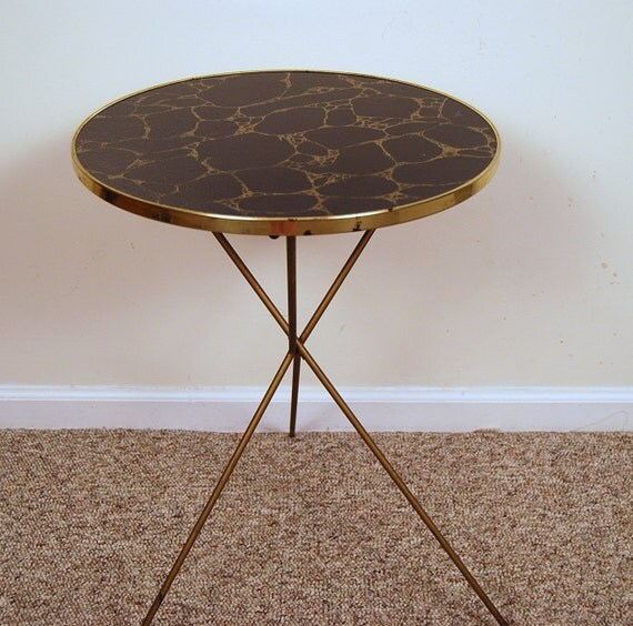 Table Black and Gold 1950s