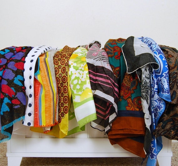 Vintage Four Season Collection of Scarves....Twelve