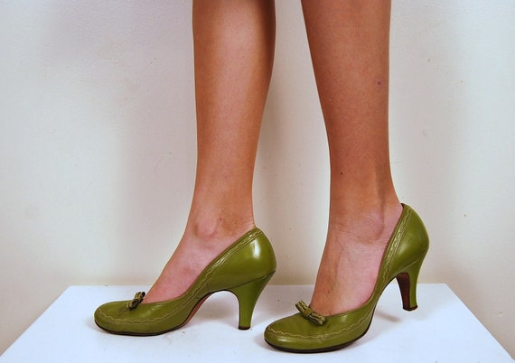 1950s Green with Bow Shoe
