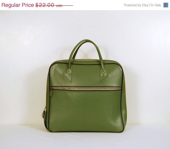 SALE..... Mod Green Suitcase