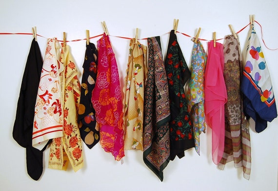 Vintage Scarf Chic Lot