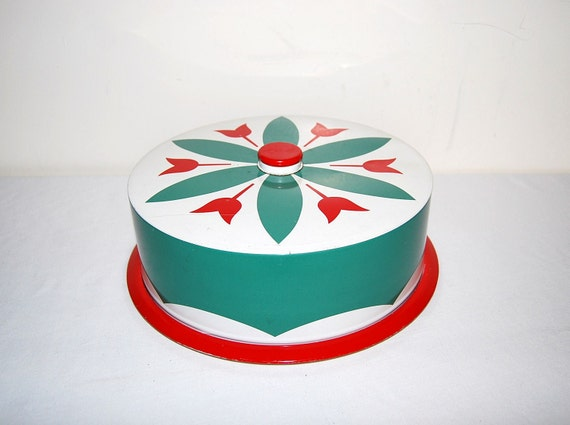 50s Red Cake Server