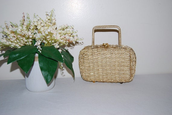 60s Gold Party Purse