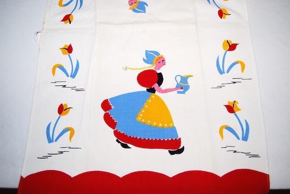 Vintage Dutch Maiden Towel