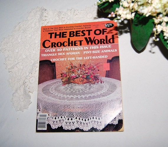 Best Crochet Magazines : Best of Crochet World Magazine by CheekyVintageCloset on Etsy