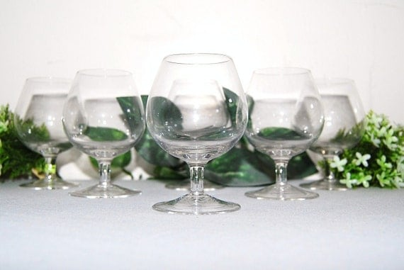 Vintage Brandy Snifter Collection of Six