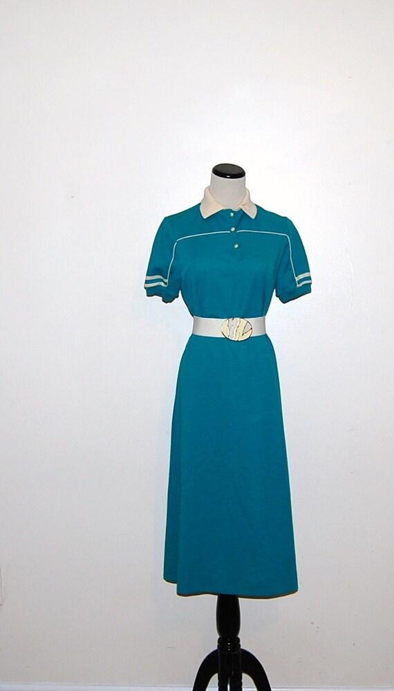 Vintage Casual Shirt Dress