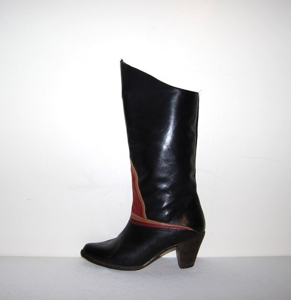 Vintage Boots Black with Rust