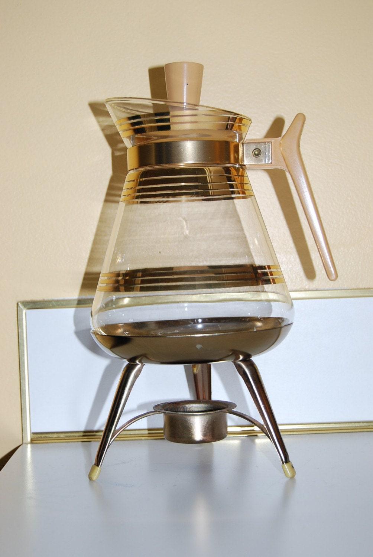 Glass Vase Coffee Maker : Vintage ART Deco 1950 s Inland Glass Carafe COFFEE MAKER
