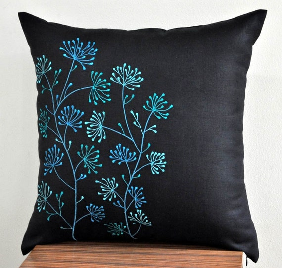 Throw Pillow Covers Teal : Teal Throw Pillow Cover Decorative Pillow Cover Modern by KainKain