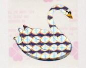 Rare Vintage Retro 80s Great Seven 7 Prism Swan Sticker Mod