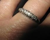 Antique 14k White Gold Wedding Band Size 7 1/2