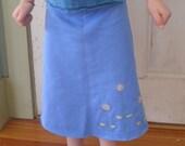 child's reverse applique skirt