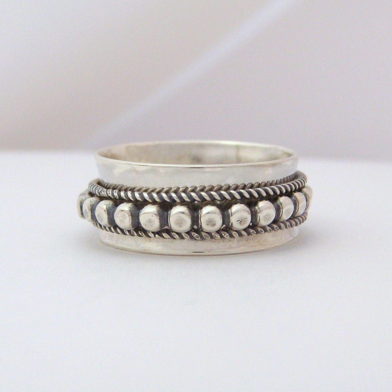 sterling silver spinner ring handmade ring by scjjewelrydesign