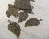 Antique leaf pendants