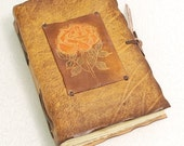 YELLOW  ROSE Leather Journal.