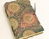 Dark Travel Journal, leather journal.