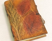 Leaves Leather Journal With Branch.