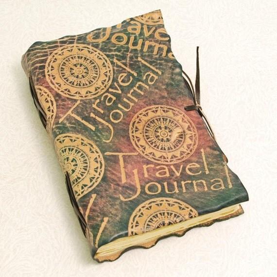 Dark Travel Journal, leather journal.