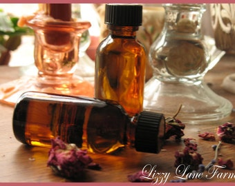 Organic Lavender Pure Essential Oil, 1 ounce Amber Glass Bottle