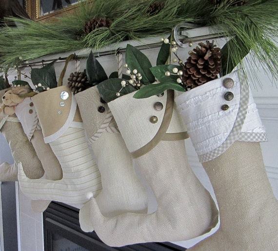 Pair of Dreamy Creamy Droopy-Toed Christmas Stockings plus Tree Skirt for POST Christmas Delivery - For Brittany
