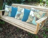 5' Handmade Cypress Wood Wooden Porch Swing Swings