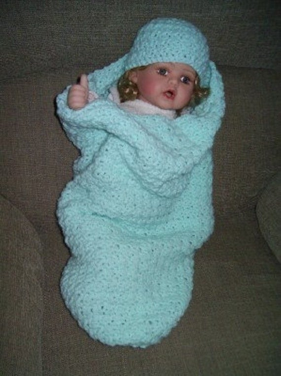 Free Baby Cocoon And Hat Knitting Pattern Striped Baby