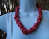 Pink Birch necklace by Recycled Knits