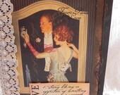Wedding Love cherish vintage style handmade card