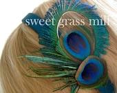 FREE U.S. SHIPPING - The Contessa - Peacock Headpiece