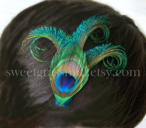 EXCLUSIVE Item and Price - Petit Reverie - Peacock Feather Clip - LAST DAY