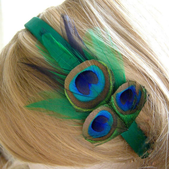 The Chanteuse - Peacock Headband