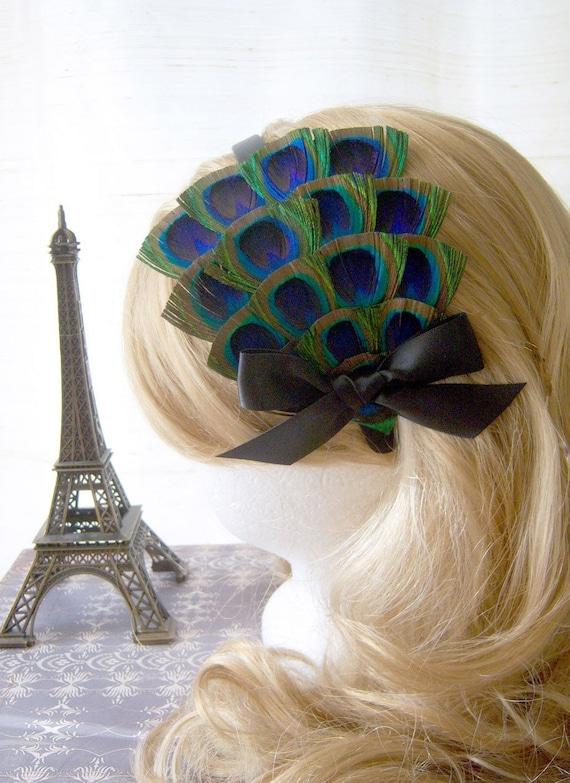 The Parisienne - Peacock Headband