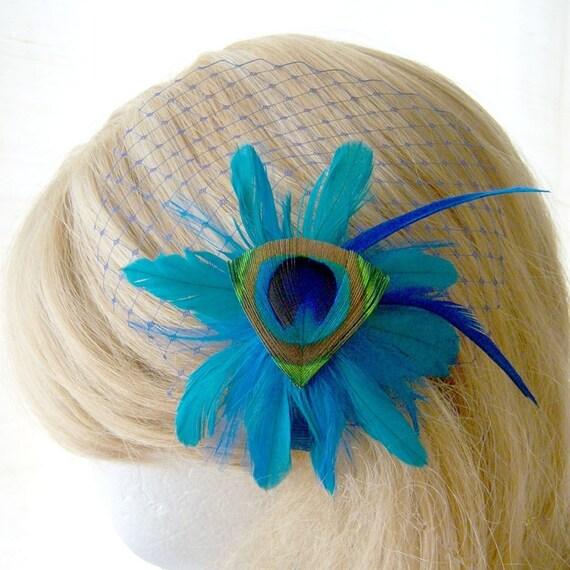 Jardin Clip with Bleu Veil
